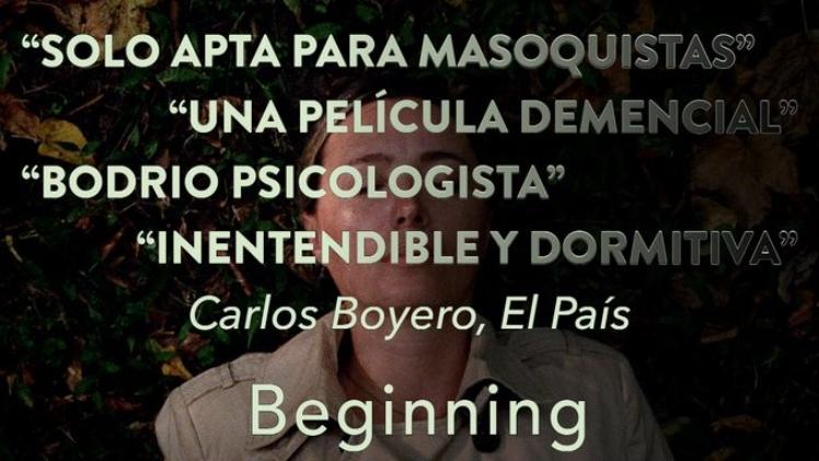 """La productora de 'Beginning' promociona la película con las malas críticas de Boyero: """"Es una idea fantástica"""""""
